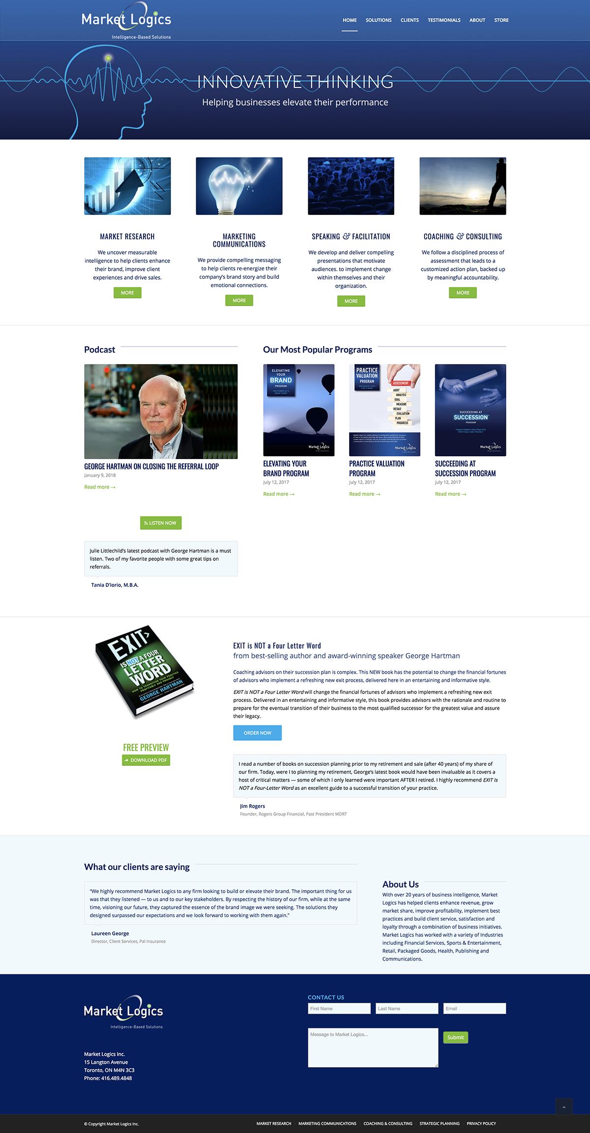 Market Logics Inc. Web Site